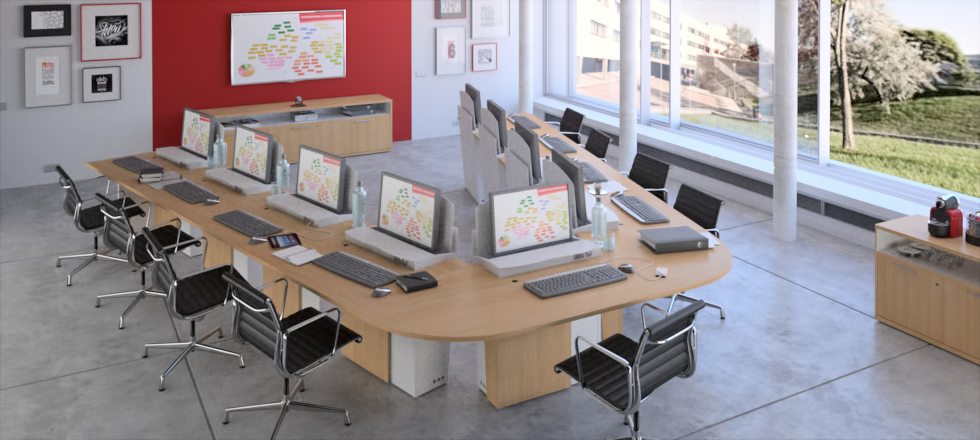 CRAIE DESIGN - I-Rise - Versatile meeting table for training, crisis management...