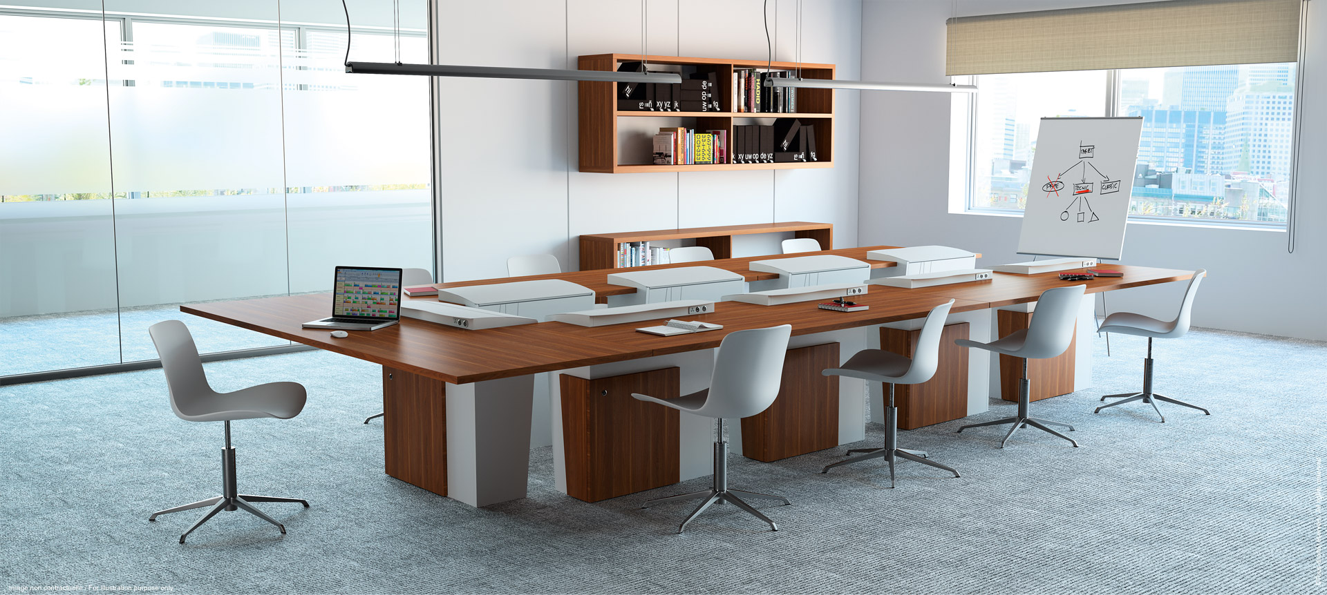 I-Rise - All-purpose meeting table