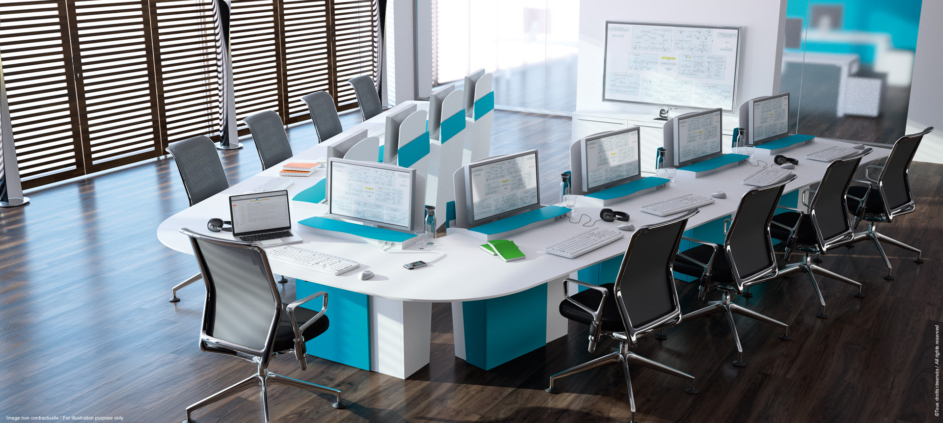 I-RISE - The versatile meeting table for training, coworking