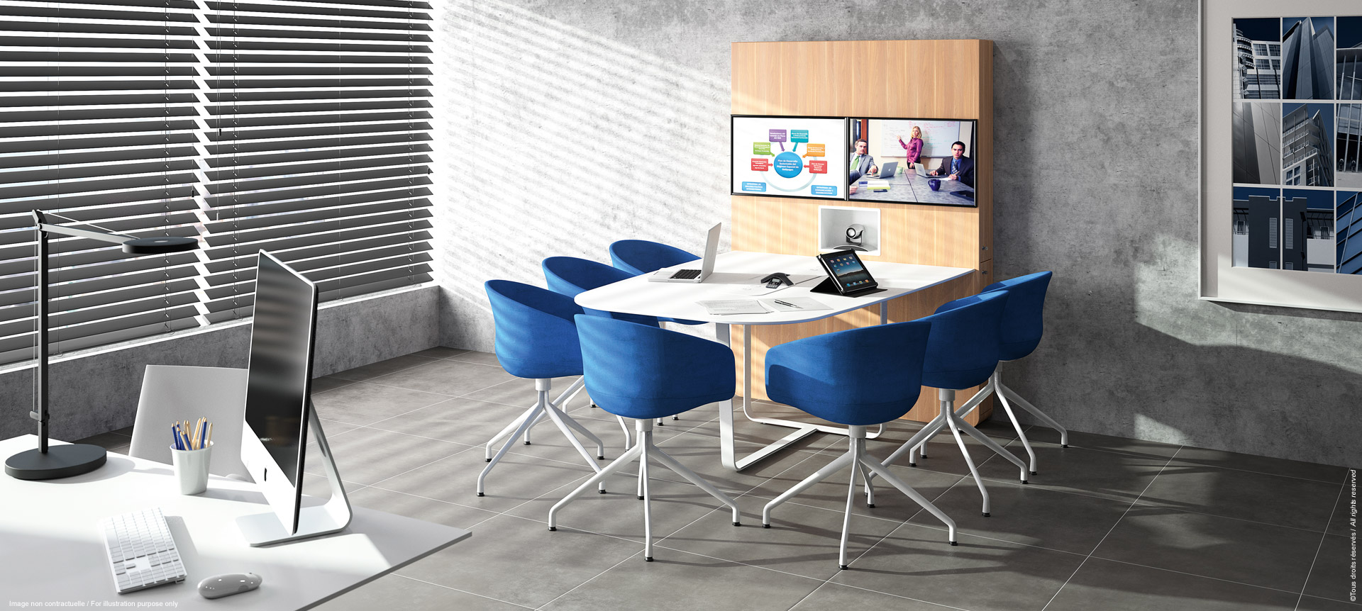 WEMEET CONFERENCE -Meeting furniture for coworking and videoconference