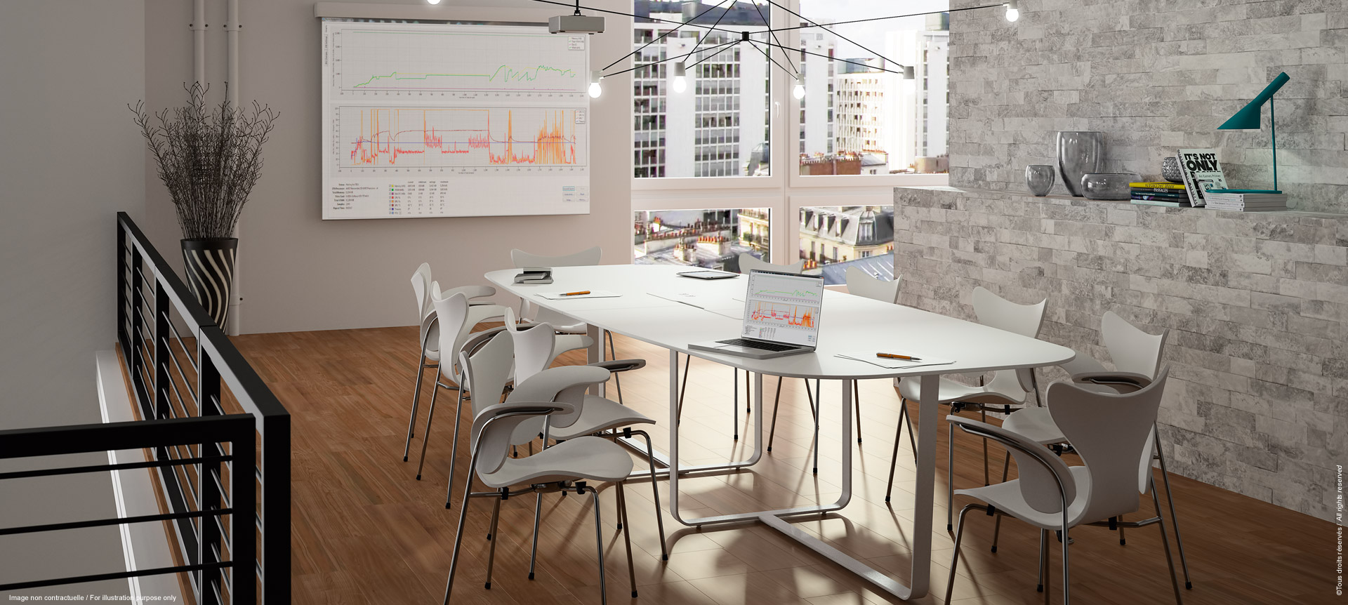 WEMEET MEETING - Conference table with plug access