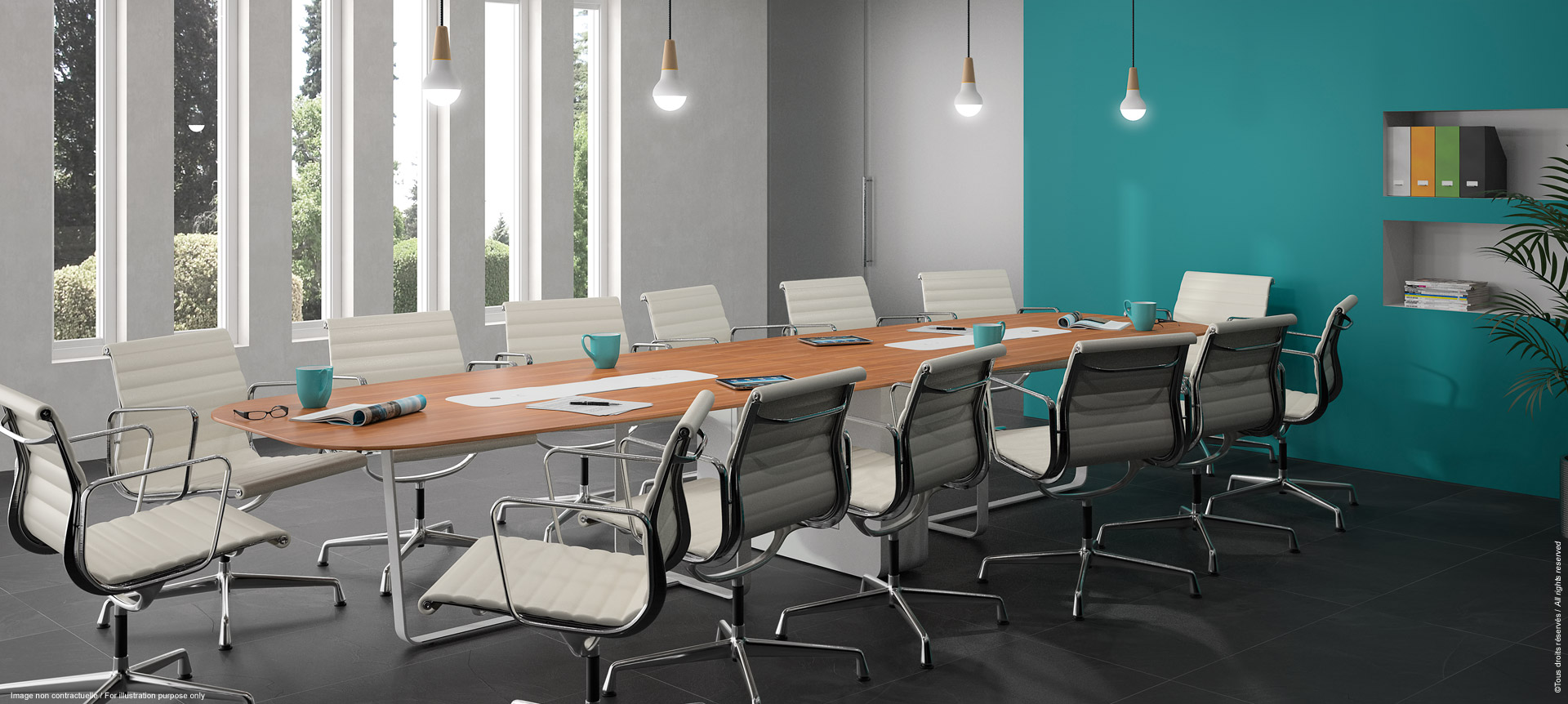 WEMEET MIXED - Meeting table coworking or training room