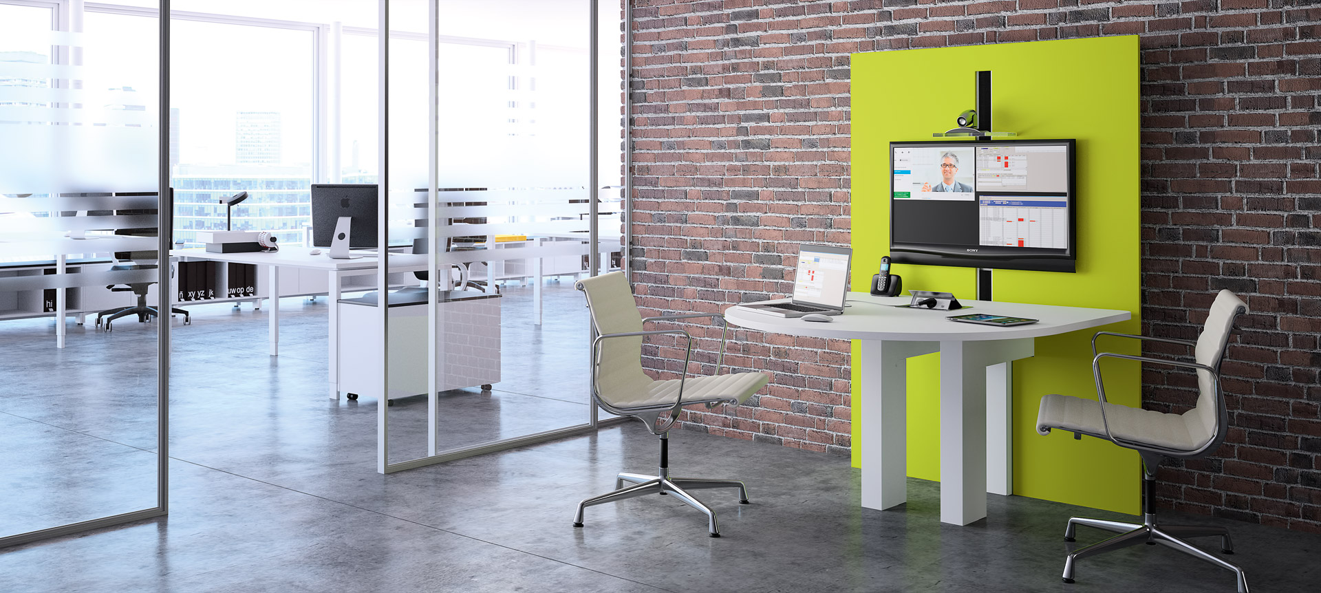 CRAIE DESIGN - I-Share - Multimedia meeting table - adjustable in height
