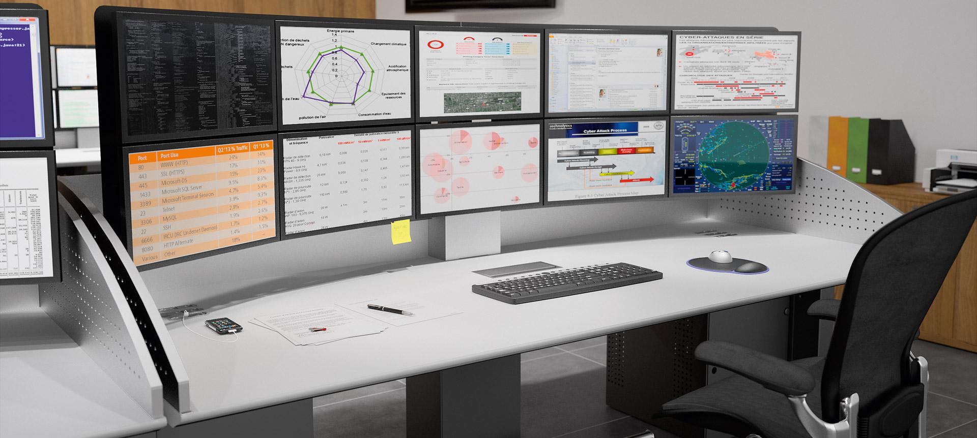 CRAIE DESIGN - I-KUBE - Multiscreen and ergonomic work station