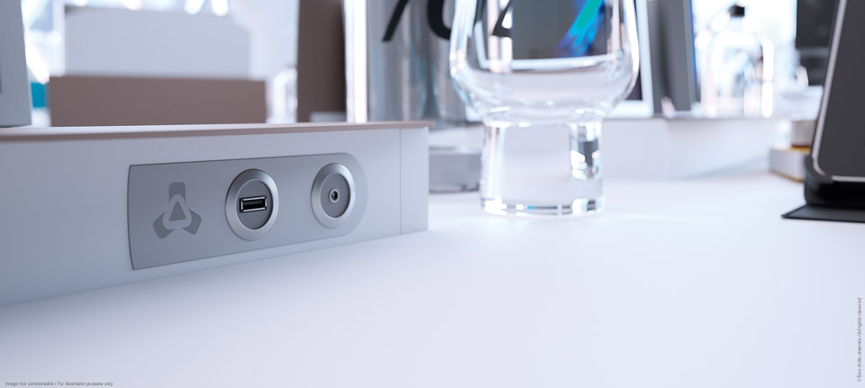 I-Rise - Plugs of the flexible meeting table