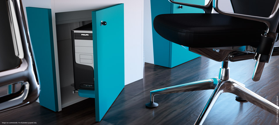 I-Rise - Storage of the flexible meeting table