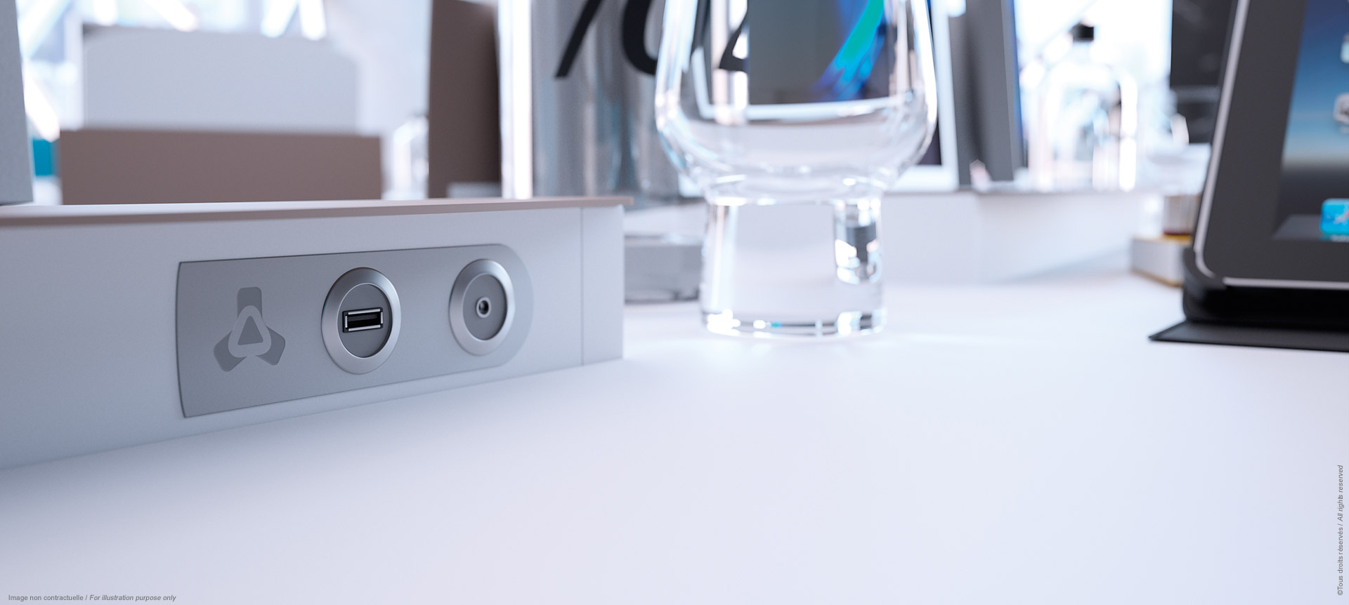I-Rise - Plugs of the all-purpose meeting table