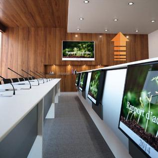LIFTY - Totem central pour retours d'écrans - salles de réunion ou de conseil d'administration