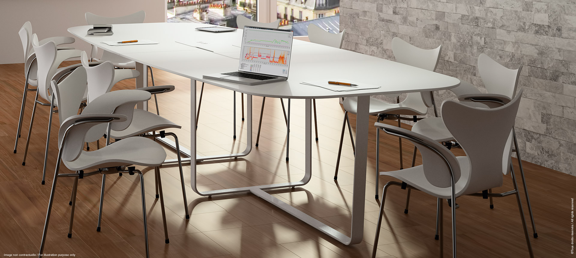 WEMEET MEETING - Design meeting table with plug access