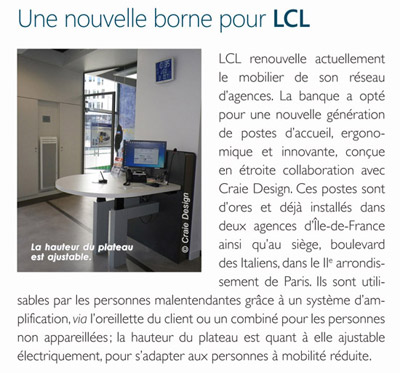 AGENCEUR - Article Craie Design a new front desk for LCL Bank