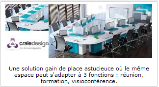 INFOBUROMAG - Article Craie Design I-Rise flexible and ingenious meeting space
