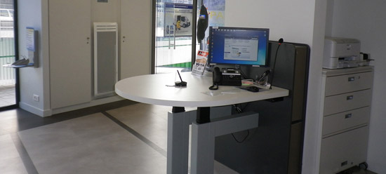 LCL - new ergonomic front desk – a parnership with Craie Design