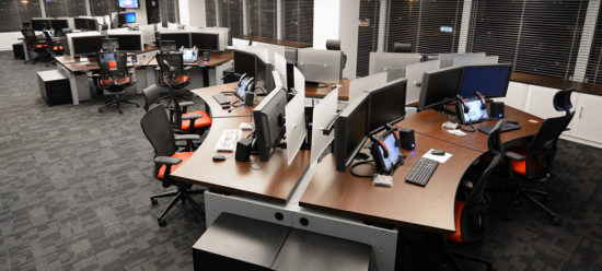 Trading desks for OCP trading room