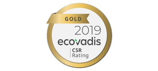 Gold rating Ecovadis