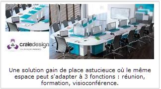 INFOBUROMAG - Craie Design article I-Rise espace de réunion astucieux et modulable