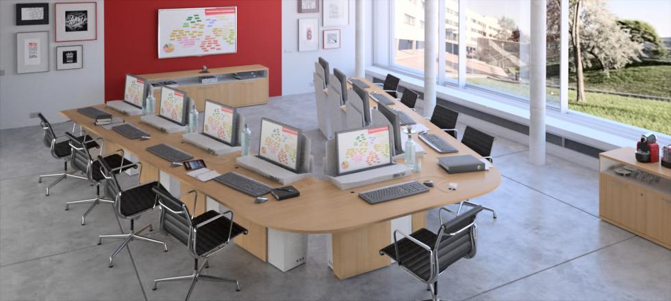 I-RISE : table de réunion, formation et visioconférence