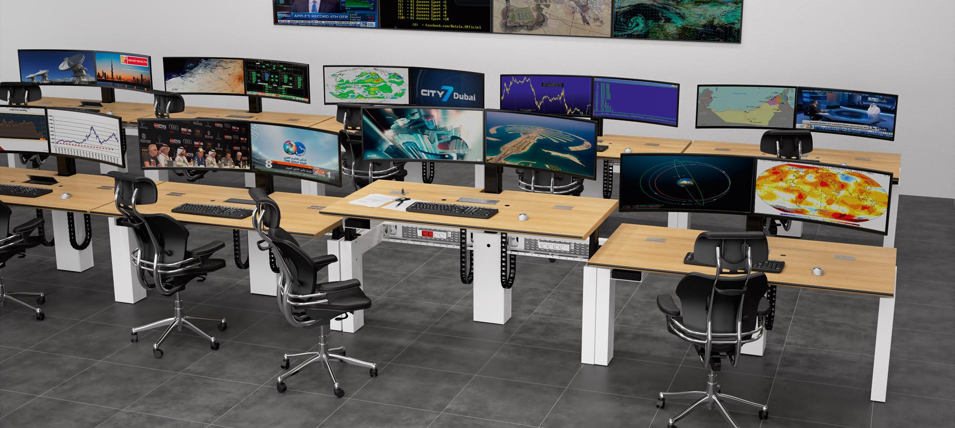CRAIE DESIGN - I-Kube Postes de travail multi-écrans ergonomiques pour Salle de Contrôle