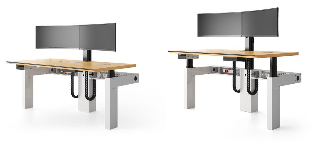 I-Kube Poste de travail multi-écrans ergonomique