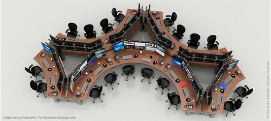 18 postes opérateurs multiécrans