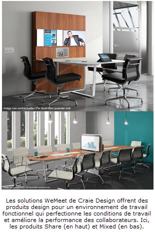 WEMEET - Mobilier pour réunion et visioconférence