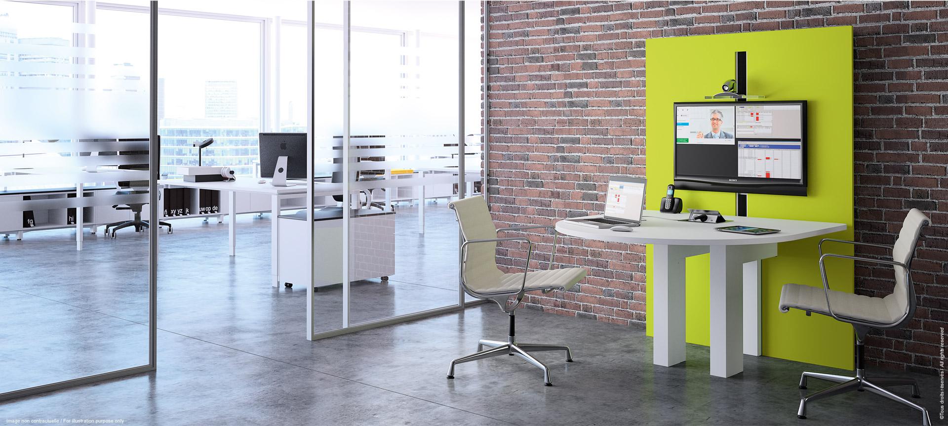 I-SHARE - meuble de réunion multimédia ajustable en hauteur