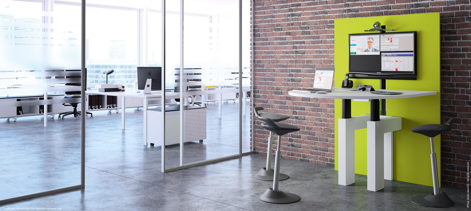 I-SHARE table de réunion multimédia ajustable en hauteur