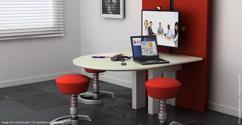 table multim dia ajustable en hauteur craie design. Black Bedroom Furniture Sets. Home Design Ideas