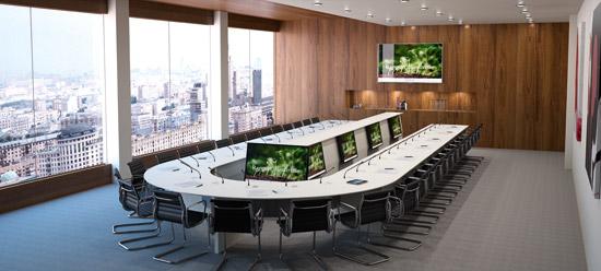 LIFTY - Meuble central pour salle de conférence avec report écrans