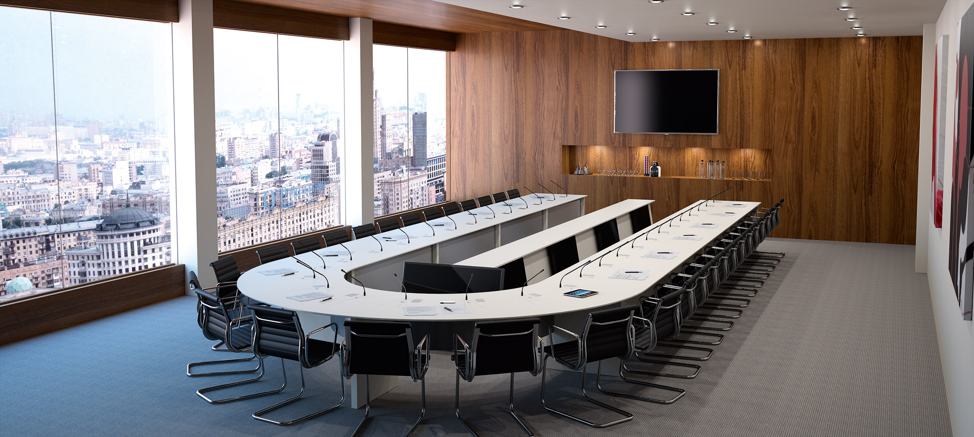 LIFTY - Totem pour salle de conseil - report écrans