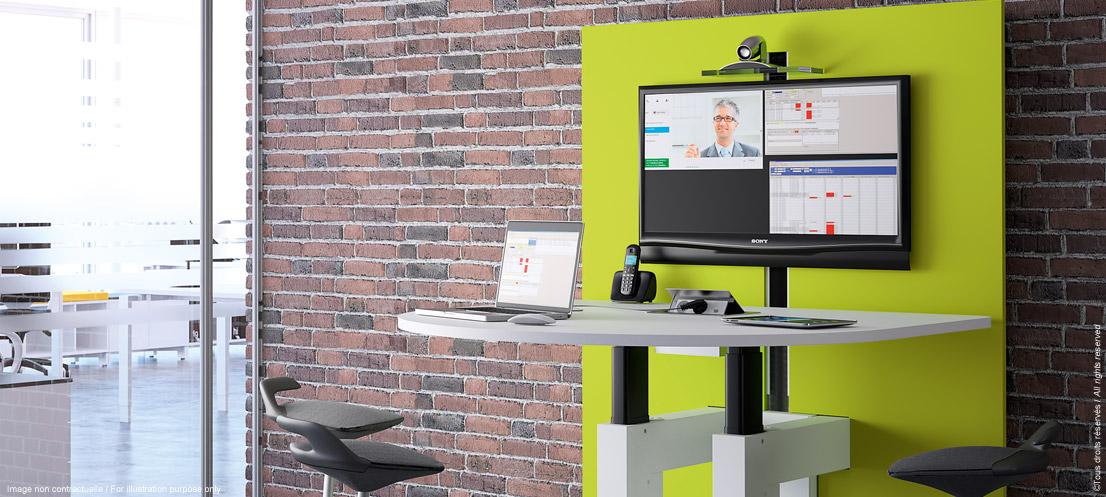 I-SHARE table de réunion connectée ajustable en hauteur