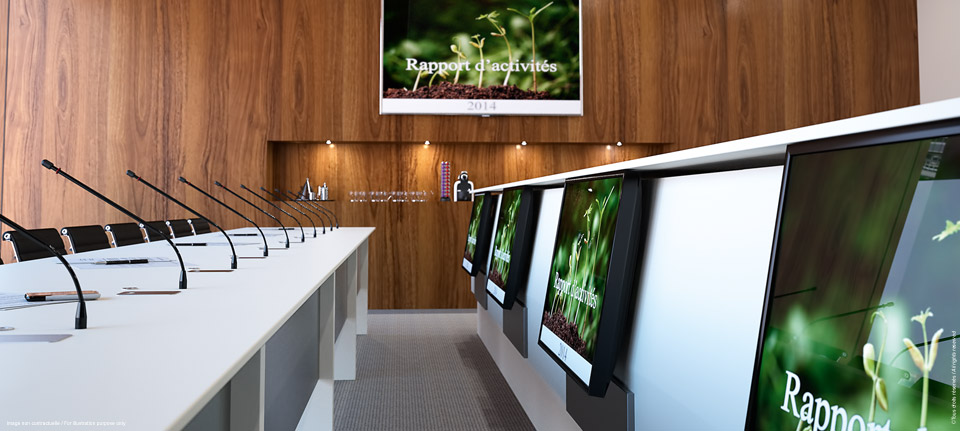 LIFTY - Totem central pour salle de conseil avec report écrans
