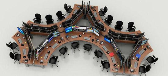 I-RISE - table pour salle de contrôle Schlumberger