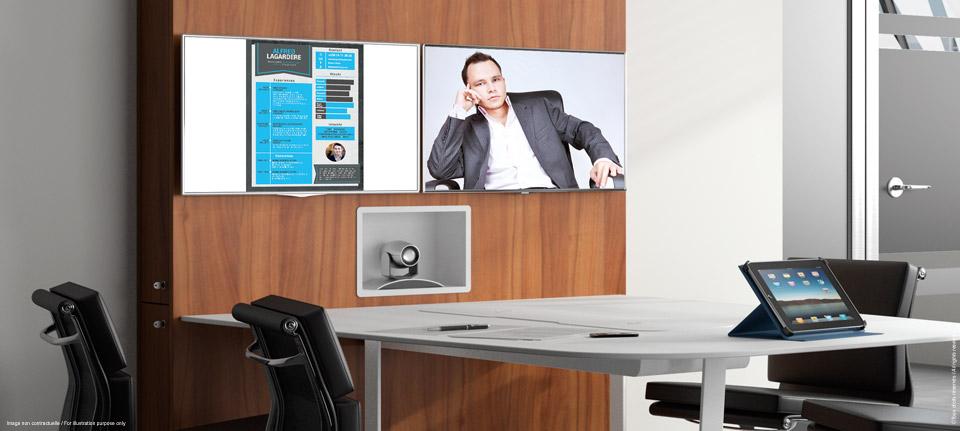 WEMEET CONFERENCE - mobilier de réunion multimédia pour visioconférence, réunion, co-working