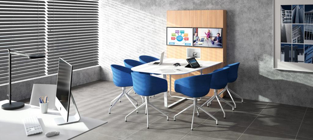 WEMEET CONFERENCE - table de réunion multimédia pour visioconférence