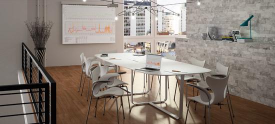 WEMEET MEETING -Table de réunion esthétique et ergonomique avec connectique
