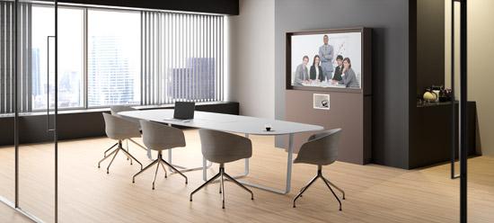 WEMEET REMOTE - Salle de réunion équipée du meuble connecté pour visioconférence