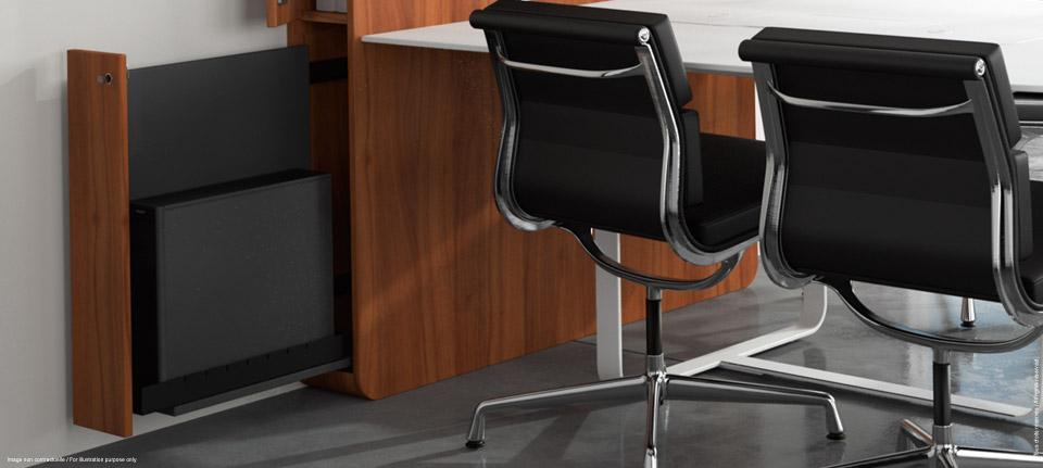 WEMEET CONFERENCE - table de réunion multimédia et polyvalente avec meuble de rangement