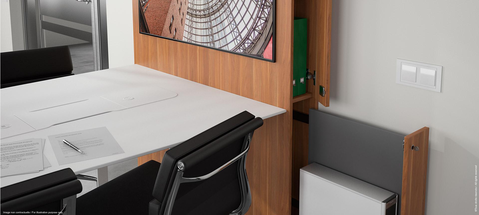 WEMEET SHARE FIXED - Table de réunion multimédia avec meuble rangement