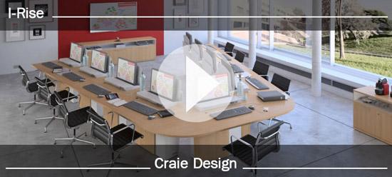 I-RISE - vidéo table de réunion polyvalente - formation, visioconférence, crise