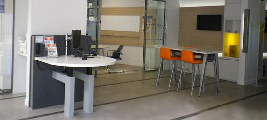 LCL - Nouveau concept d'agence - accueil ergonomique - partenariat avec Craie Design