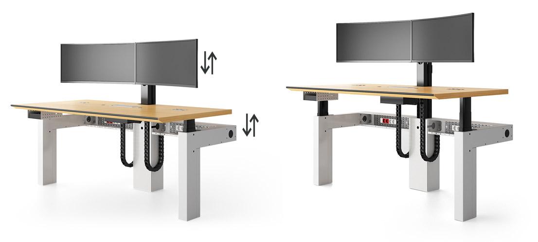 I-Kube poste multi-écrans réglables en hauteur