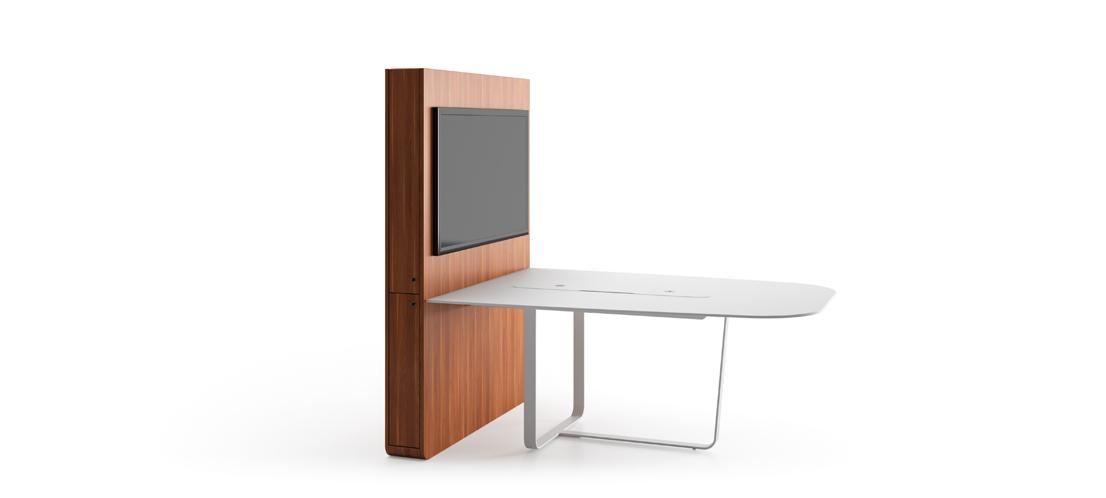 meuble connecté 1 écran pour réunion coworking formation