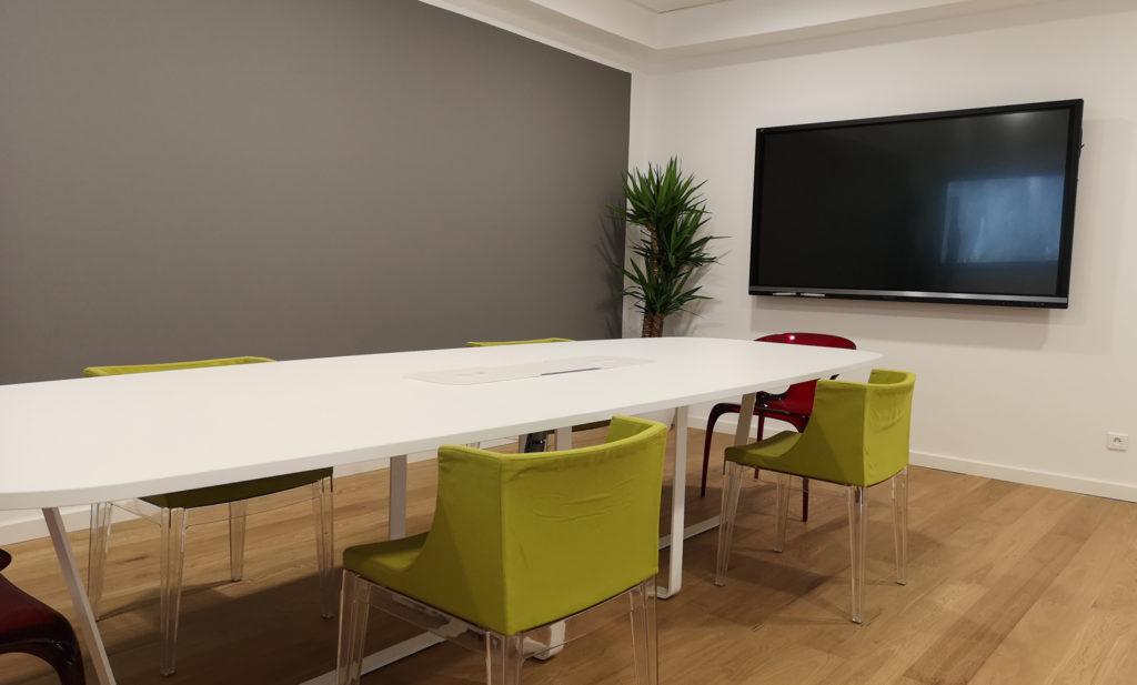 Table réunion connectée biocentric