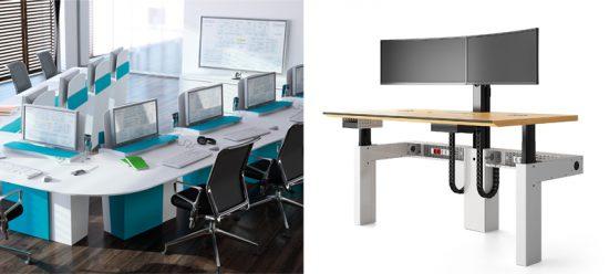 Mobilier polyvalent I-Rise et console ergonomique I-Kube pour salle de crise