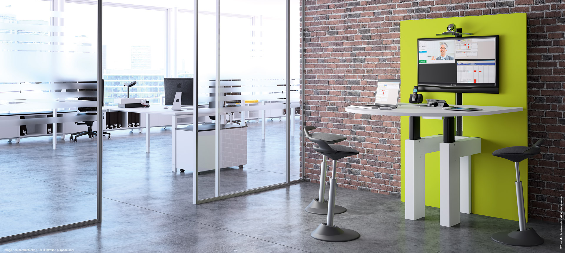 I-Share - Multimedia table for meeting or video-conference